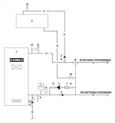 электрическая схема котельной